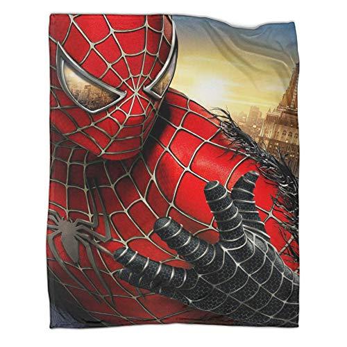 Manta de felpa mullida y acogedora de Spiderman para cama (80 x 100 cm)