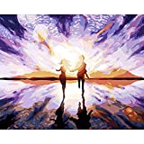 baodanla Amantes de Pintura al óleo sin Marco Arcylic Ng by Numbers On Canvas D Wall Pictures Art For Living Room Home 40x60cm