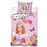 Barbie Bettbezug Set   Kissenbezug Glitzer 135x200