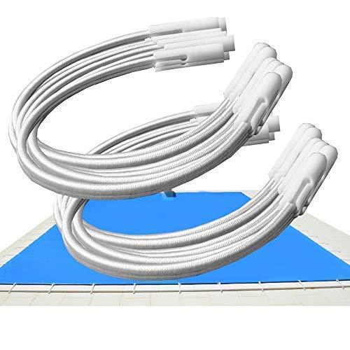 Telepiscinas Kit 12 Und. - Goma Elástica Tensores para Cobertores de Piscina – Ajustables por Apertura del canutillo (12)