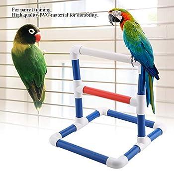 Pssopp Support de Formation de Perroquet Bird Table Perch Stands PVC Plateforme de Repos pour Oiseaux Stand de Douche de Bain Support de Gymnase Debout Gym Formation Broyage Titulaire du Support(PVC)