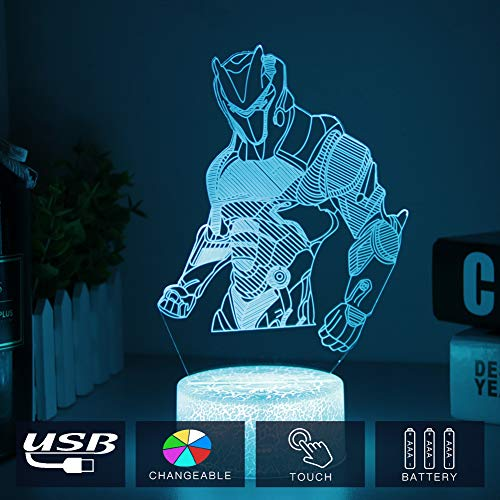 WHATOOK Game Series Night Light Omega Raven Scar 3D Lamp 7 Color Table Lava Mood Lamp for Child Christmas Birthday Gifts Fans (Crack Omega)