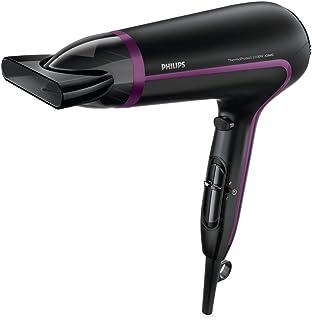 Philips ThermoProtect Ionic HP8234/10 secador Negro, Púrpura 2100 W - Secador de pelo (Negro, Púrpura, ABS sintéticos, Con agujero en la empuñadura para colgar, 1,8 m, 2100 W, 220-240 V)