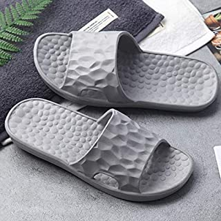 Unisex Indoor Home Hotel Sandals and Slippers Male Summer Non-slip Bathroom Slippers Women's and Men's Flip Flop Shower Shoe (Color : Gray, Shoe Size : 39)