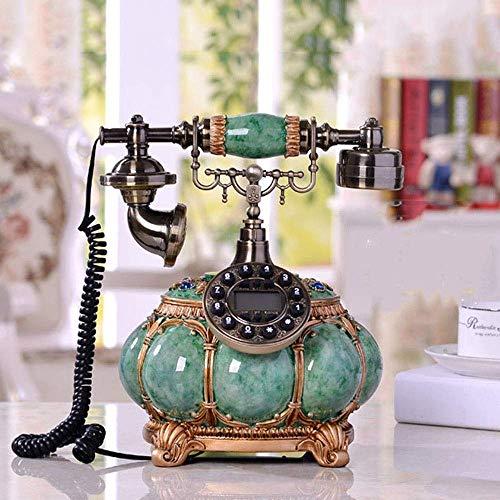 LDDZB Teléfono fijo retro para el hogar, la escuela y la oficina, con pantalla LCD, teléfono de cerámica, teléfono creativo Hh-fin, esfera giratoria retro, decoración del hogar