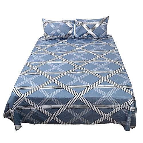 YeVhear - Juego de sábanas de 4 piezas, 100% algodón, sábana bajera ajustable, 2 fundas de almohada # 5