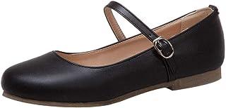 KIKIVA Women Ballet Flat Mary Jane Low Heel Ankle Strap Dolly Shoes
