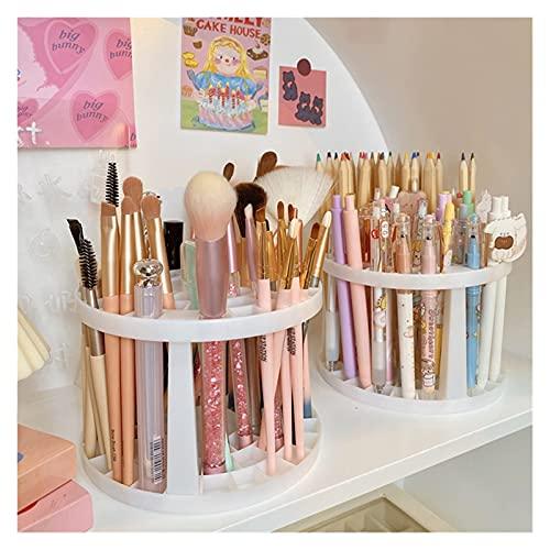 LITINGT Cosmetic Storage Box Lattices Cosmetic Make-up Brush Storage Box Table Organizer Make Up Tools Pen Storage Makeup Nail Polish Cosmetic Holder Box (Color : White)