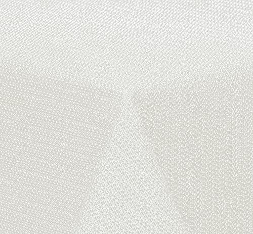 BRANDSSELLER - Gartentischdecke geschäumt - wetterfeste und rutschfeste Tischdecke für Garten Balkon und Camping (Eckig 110x140 cm, Cremeweiß)
