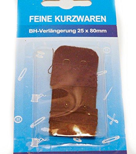 Feine Kurzwaren 3er Set BH-Verlängerungen je 25mm breit 2 Haken-Verschluss in schwarz