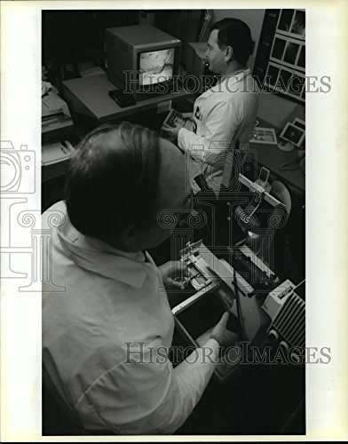 Vintage Photos 1993 Press Photo Demonstration of The Confocal Eye Microscope at Lousiana State