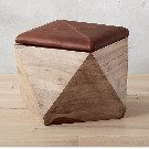 hexagon ottoman with storge + Reviews | CB2