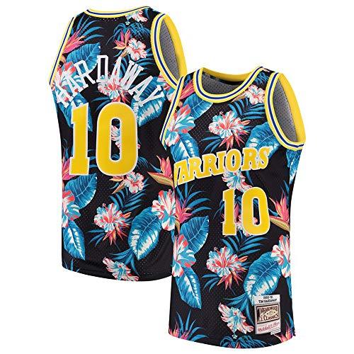 xiaotianshi Ropa de Baloncesto de la NBA de los Hombres, Golden State Warriors # 10 Tim Hardaway Classic Jersey, Resistente al Desgaste Transpirable Vintage Baloncesto All-Star Jersey,Multi Colored,S