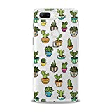 Lex Altern TPU Case for OnePlus 7 Pro 6T 6 2019 5T 5 2017 One+ 3 1+ Cutie Kids Green Cacti Girly Slim fit Decor Gift Lightweight Cover Phone Smooth Print Kawaii Design Clear Flexible Soft Cactus
