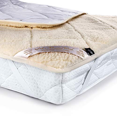 Merino Wool Bedding Mattress Topper Pad 90 x 190 Letto Singolo Vendita Coprimaterasso in Lana Merino, COPRIMATERASSO 90 x 190 cm,con Elastici agli Angoli.