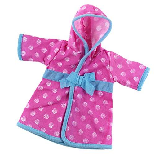 MagiDeal Lindo Pijama Ropa de Noche de Manera para 18 Pulgadas Americanas Chicas Muñecas - Rosado Azul