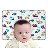 RELIGES Baby Pillow Memory Foam-Cover with 100% Cotton-Protection for Flat Head Syndrome Breathable Anti Roll Pillow