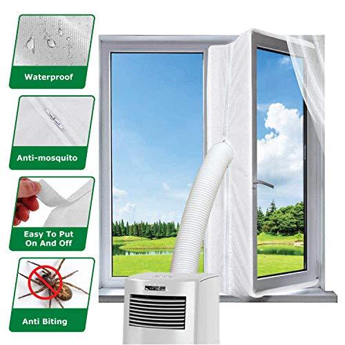 KafooStore Fensterabdichtung für Mobile Klimageräte 400 CM, Klimaanlage Fensterabdichtung, Wasserfestes Abdichtungsgewebe, Klimaanlage Fensterabdichtung, Einfache Installation