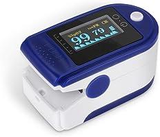SEEDARY Oxímetro de Pulso y Monitor de Frecuencia Cardíaca con Pantalla OLED HD Pulsioxímetro con Alarma y 4 Direcciones...