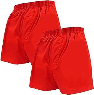 赤パンツの元祖 巣鴨のマルジ 無地赤トランクス2枚セット(前開き・ボタン無)