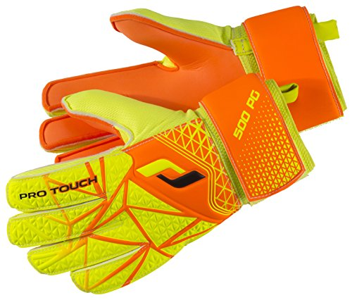 Pro Touch Kinder Torwarthandschuhe Force 500 PG Jr, Neon Orange/Gelb/Schwarz, 5