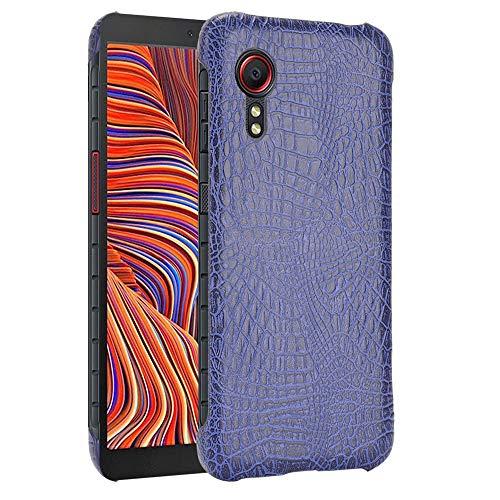 SPAK Samsung Galaxy Xcover 5 Funda,Nueva Patrón del Cocodrilo Cáscara Dura Cubierta para Samsung Galaxy Xcover 5 (Azul)
