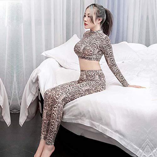 Erotische Kostüme Für Damen Fun-Unterwäsche Erotic Suit Sexy Tight-Fitting Hollow Leopard Print Pants Two-Piece Game Wear Women's Clothing Sexy Underwear-Snake Skin_One Size