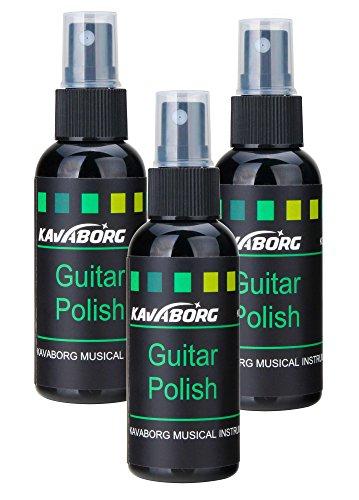 Rocktile GP-2 Gitarrenpolitur SET 3x (Guitar Polish, Politur, für alle Lacke, für Saiten, Griffbrett und Koprus geeignet, 60 ml Pumpspray)