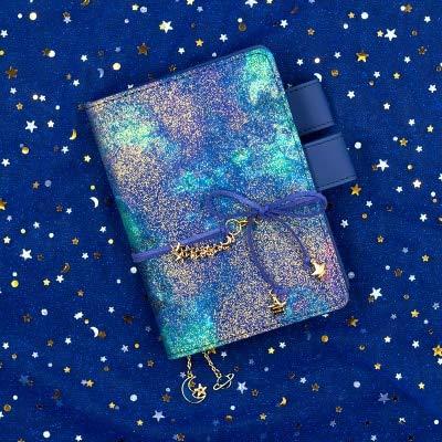 A6 A5 Starry Sky Breveplanificador detendenciasCuero de la pu Colgante únicoDiario Regalo Viajero Bloc de notas