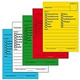 100 x etichette per trasloco in 5 colori, adesivi con etichette di cartone per trasloco per trasloco
