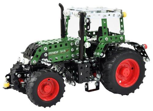 Tronico 10067 - Metallbaukasten Traktor Fendt 313 Vario, Junior Serie, Maßstab 1:24, 735-teilig, grün