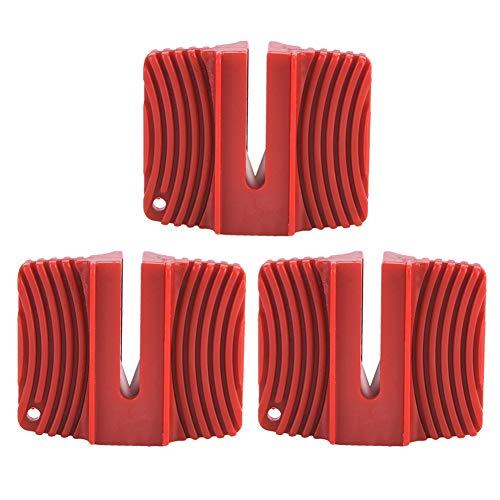 Angeln Schleifstein, PVC Anti-Rost 3 PCS Mini Messerschärfer, für tägliche Möbel im Freien