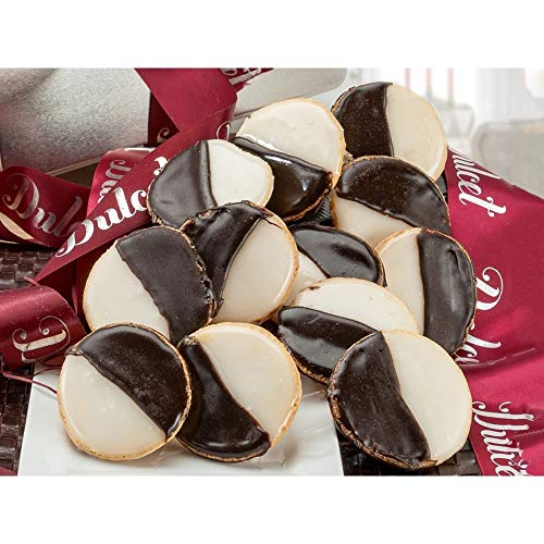 Dulcet Gift Baskets NY Style Black & White Cookies Favorite Gift Tin- Great for Thinking of You Gifts -holiday Celebrations-Get Well Thank You & Sympathy Wishes for Men, Women, Girls, boys.