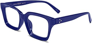 Classic Square Eyewear Non-prescription Thick Glasses Frame for Women B2461