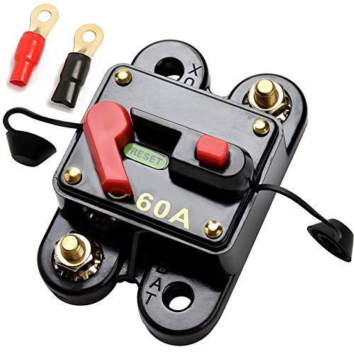 Qiorange 60-300A 60AMP 300AMP Auto Marine Boat Bike Stereo Audio Leistungsschalter Reset Sicherung 12V-24V DC (60A)