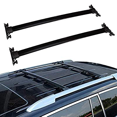 ECCPP Roof Rack Crossbars fit for Toyota Highlander 2008-2013 Rooftop Luggage Canoe Kayak Carrier Rack - Fits Side Rails Models ONLY