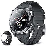 CUBOT C3 Smartwatch, 1.3 Pollici Full Touch Activity Tracker Fitness Tracker, Orologio da polso business, 5ATM Impermeabile Pedometro, Cardiofrequenzimetro, per iOS / Android, per Uomo Donna Grigio