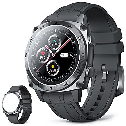 CUBOT C3 Smartwatch, 1.3 Pollici Full Touch Activity Tracker Fitness Tracker, Orologio da polso business, 5ATM Impermeabile Pedometro, Cardiofrequenzimetro, per iOS   Android, per Uomo Donna Grigio