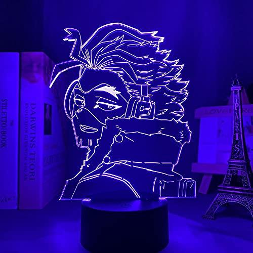 Luces de Anime 3d Led,Anime 3d Lamp Hawks My Hero Academia Para Decoración de Dormitorio Regalo de Cumpleaños,Manga Gadget My Hero Academia Keigo Takami Luces de Noche LED