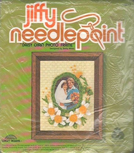 Vintage Jiffy Needlepoint Kit - 'Daisy Chain Photo Frame'
