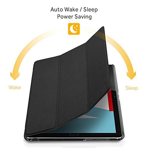EasyAcc Hülle für Huawei Mediapad M5 10.8/10.8 Pro, Ultra Schlank Schutzhülle Case mit Auto Sleep/Wake Up Funktion und Zwei Einstellbarem Standfunktion für Huawei Mediapad M5 10.8 Zoll 2018, Schwarz - 4