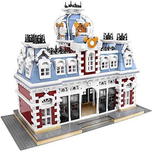 NXNX City Street Series The Train Station of Dreamland Licks Model Building Blocks Kids Toys DIY (3132Pcs)