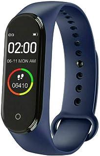 Band 4 Pulsera de Actividad,Monitores de Actividad,Pantalla Pulsómetro Fitness Tracker, Smartwatch con 0.95''Pantalla AMOLED a Color,con iOS y Android,Negro(Versión Global)