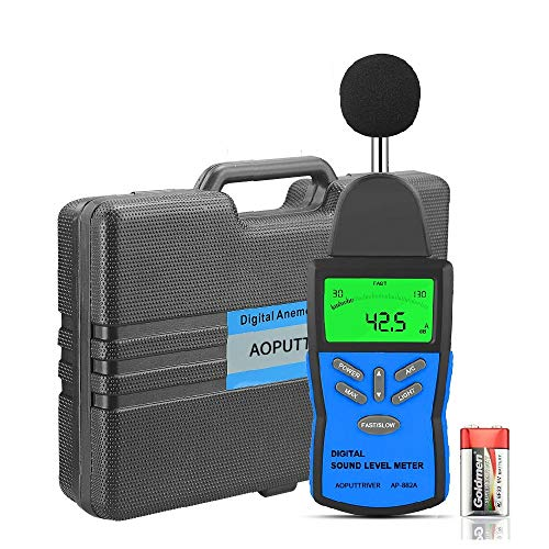 Digital Sound Level Meter AP-882A Noise Level Meter Tester Range from 30-130dB,Digital Decibel Meter with LCD Backlight/Max Hold/Sensitivity Adjustment and dBA/C Switch(Battery Included)
