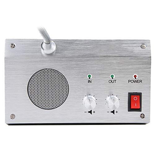 Interfono de Ventana de Banco de intercomunicación con Contador antiinterferencias, para función de Silencio automático, para 110-240 V(European regulations, Transl)