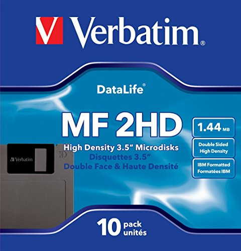"Verbatim MF2-HD DataLife - Pack de 10 disquetes 3.5"", Formato Pc"