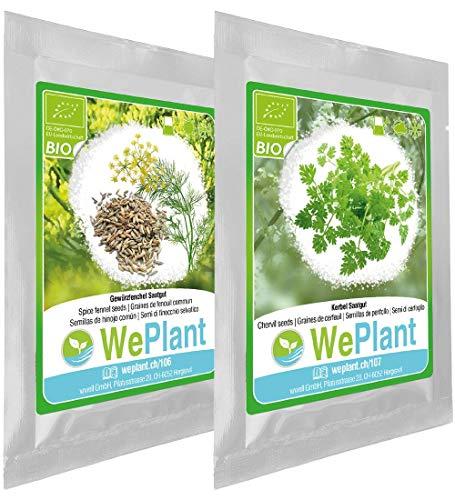 BIO Gewürzfenchel & Kerbel Pflanzen-Samen Set - indoor/outdoor
