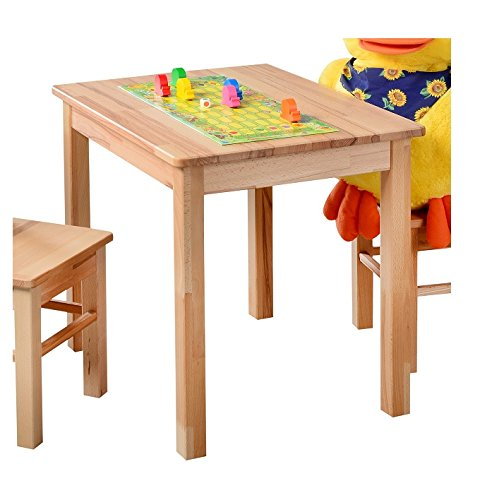 Möbeldesign Team 2000 Kindertisch Beistelltisch kernbuche massiv Holz geölt -3