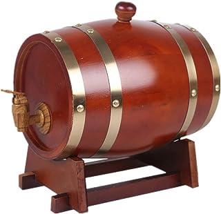 Tonneau à vin en Bois Fût de Vieillissement en Chêne 10L Tonneau en Bois avec Doublure en Aluminium Convient pour Le Stock...