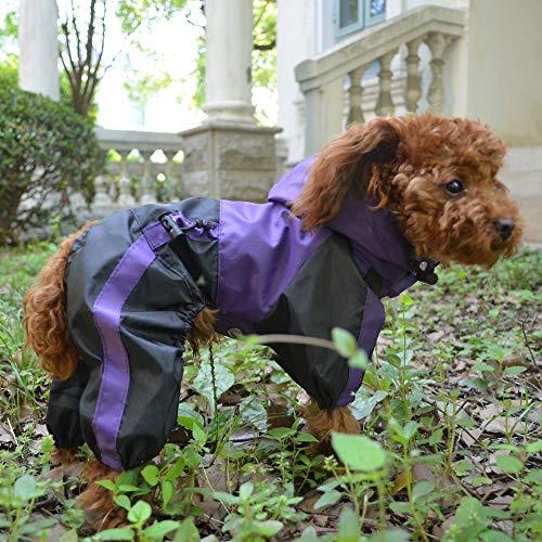 Lovelonglong Dog Waterproof Raincoat with a Hood